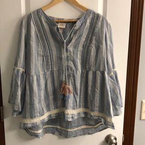Three-quarter sleeve blouse